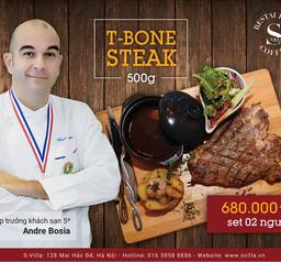 T-bone steak 500gram giá 680.000